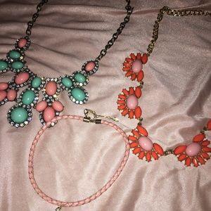 Pink detail necklace bundle